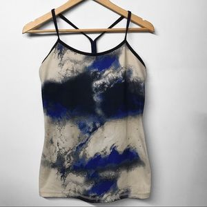 LULULEMON Milky Way Power T Tank size 8